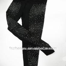 Señoras Stretch moda al por mayor de abalorios pantalones del fabricante de China