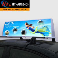 Slim car top light led ce certificate taxi sign billboard