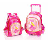 high qulity fashion child school bag,school backpack on wheel