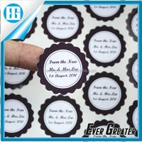 custom full color waterproof die cut pvc sticker /label decorate sticker
