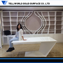 Pure white marble stone wooden office furniture design expensive office furniture