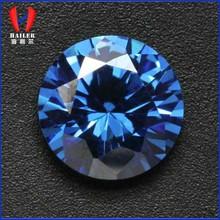 Round cubic zirconia competitive blue gemstone prices