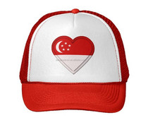 2015 Custom Fashion Embroidered cheap Singapore flag Hats promotion