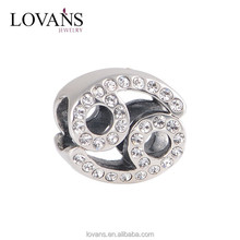 Guangzhou Fashion Jewelry Market Sterling Silver Pisces Charm For Gift X321J