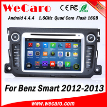 Wecaro WC-MB7506 Android 4.4.4 dvd player touch screen for benz smart car gps navigation system 2012 2013 Steering Wheel