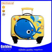 Cartoon Design kids school luggage ABS small size children trolley suitcase