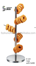 Metal Doughnuts Tree / Stainless Steel Round Bread Stand /Bagel Holder