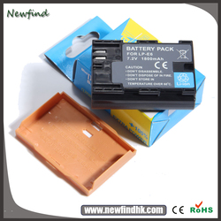 Hot Selling LP-E6 LPE6 Li-ion Battery For Canon 5D Mark III 6D 7D 60D Show battery level