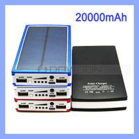 20000mAh Solar Power Bank Dual USB Battery Charger for Mobile Tablet Camera