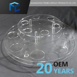 Small Order Accept China Supplier Customized Round Acrylic Display Case