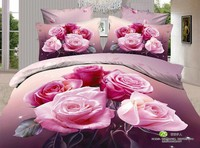 Romantic luxury design bed sheet king size 3d bedding sets for wedding