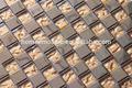 mezcla de vidrio de acero inoxidable mosaico de azulejos