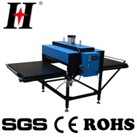 Pneumatic double bench heat press machine clothing for sale