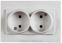 CE,CB Certificated igoto Europe standard u130 double lamp plug Russian socket