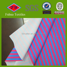 stripe printed Brushed Microfiber Peach skin fabric for beach pants