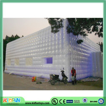 Giant inflatable cube tent for events