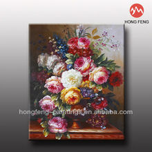 factory price rose flower oil painting