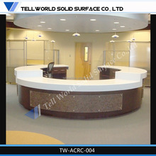 Marble Top Small Curved Round Hotel Modern Design Office Counter Reception Table