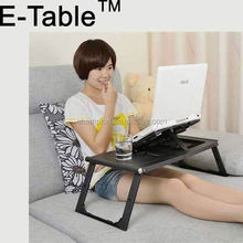 best selling item folding folding laptop table with fans made in china with fans made in china