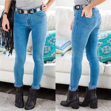 women light acid wash denim custom made skinny jeans made in china
