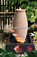 resin flowing water pot indoor fountain sculpture