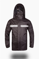Hot sealing Fashionable black color sports rain coat/rain suit/rain jacket