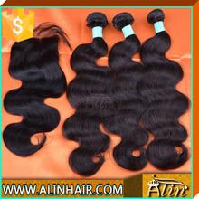 Wholesale Top Closure Lace Remy Hair body wave top lace closure Piece