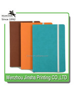 Leather hardCover Notebook with Elastic Strap Closure