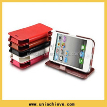 Stand Leather Flip Case For iPhone 5S