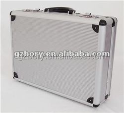 Lockable shockproof hard box aluminum ABS 500 poker chip set case