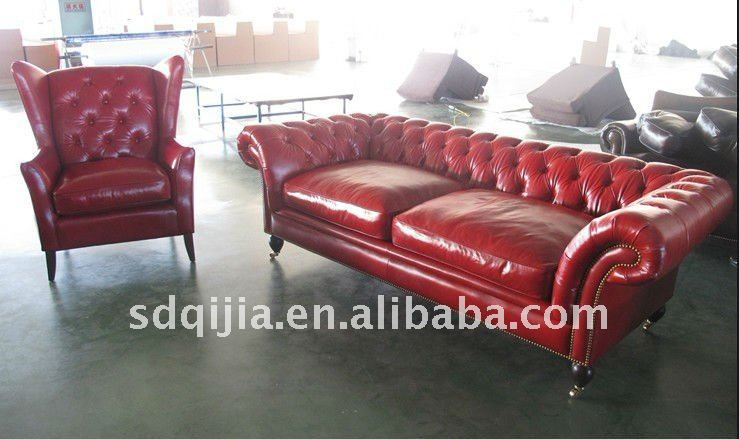 wohnzimmer chesterfield:Red Leather Living Room Furniture Sets