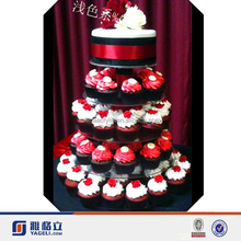 Lucite cake display table,3 Tier Round Acrylic Cake Shelves