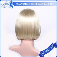 Cheap goods from china a wig bob synthetic,white highlights full lace wig,crochet wig
