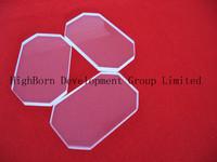 curved around transparent quartz sheet