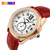 SKMEI vogue ladies leather watches with water resistant