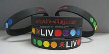 2015 debossed silicone bracelets/fashion silicone bracelet