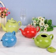 large or small customized color glaze wholesale ceramic tea pots