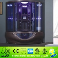 HS-SR022 with lcd tv hydro bath with shower,hydro shower steam,double steam shower