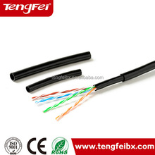 Wholesale double jacket Waterproof UTP CAT 5e Outdoor Cable