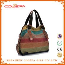 Korean Womens Shoulder Bag Fashion canvas two sided shoulder bag