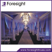 wedding stage backdrop for decoration, fashionable pipe and drape for wedding