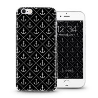 Black and white style simple anchors designs mobile cover case for iPhone 4 5 6 plus with high quality soft slim tpu for man
