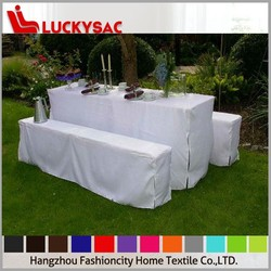 white color garden beer table cover, wedding chair slipcovers