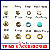 Practical useful metal snap button fasteners clips