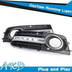 AKD Car Styling LED DRL for AUDI A4 DRL 2009-2012 A4 LED DRL LED Daytime Running Light Good Quality LED Fog lamp
