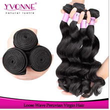 2015 Fashion products loose wave human peruvian hair weft