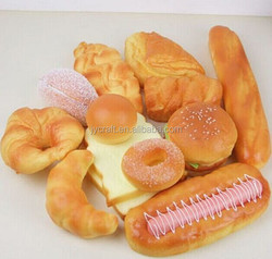 Plastic fake artificial bread food model for promotion