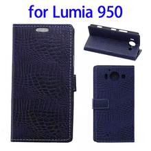 Hot Selling PU Leather Wallet Flip Cover Case for Nokia Lumia 950 Leather Case