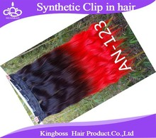24 Color Clip in Hair Weaves Extensions Clip In Colorful Hair Piece Synthetic Straight Hair Extensions