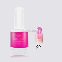 factory price popular nail polish color RNK temperature change nail polish changing color uv gel top coat nail polish